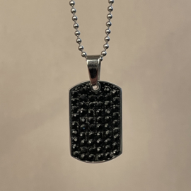 STAINLESS STEEL TAG NECKLACE