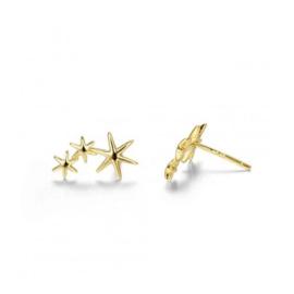 STARS GOLD VERMEIL OORSTEKERS