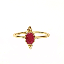 RUBY OVAL DOTS RING GOLD VERMEIL / MUJA JUMA