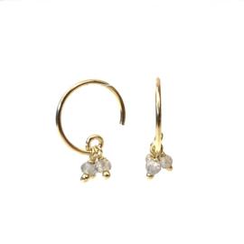 LABRADORITE BEADS GOLD VERMEIL EARRINGS / MUJA JUMA