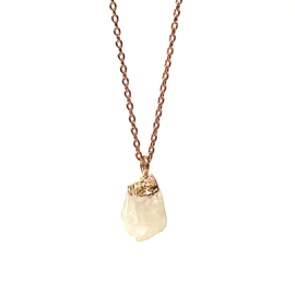 ROCKY MOONSTONE GOLD PLATED NECKLACE
