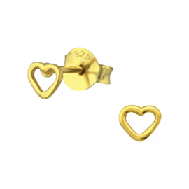 GOLDEN HEART GOLD VERMEIL OORSTEKERS