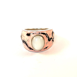 PINK DRAGON RING STERLING ZILVER 17.5