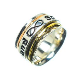 SPIN & WISH RING STERLING SILVER 18