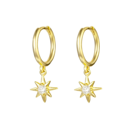 STAR EARRINGS GOLD VERMEIL
