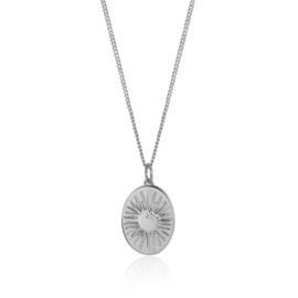 OVAL SUN NECKLACE STERLING SILVER