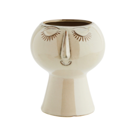 FLOWER POT W/ FACE BEIGE / MADAM STOLTZ