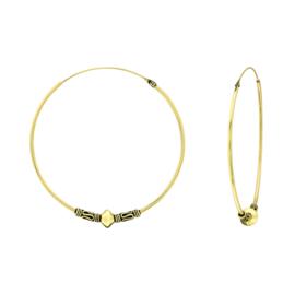 BALI HOOPS GOLD VERMEIL EARRINGS 40 MM
