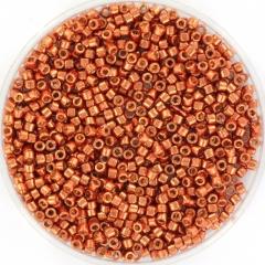 MIYUKI DELICA 2 MM KRALEN, DURACOAT GALVANIZED PINK BLUSH 11-1837