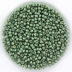 MIYUKI ROCAILLES, 2 MM KRALEN, GALVANIZED SEA GREEN 4215
