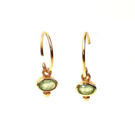 OVAL NEFRITE GOLD VERMEIL EARRINGS / MUJA JUMA