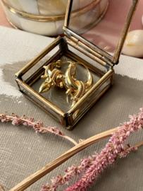 SPIKE 5 GOLD VERMEIL TRIBAL HOOPS