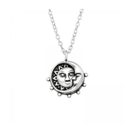 MOON & SUN STERLING SILVER NECKLACE