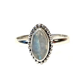 MOONSTONE MARQUISE RING STERLING SILVER