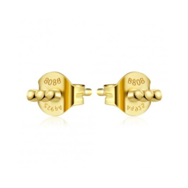 TRIPLE DOTS GOLD VERMEIL OORSTEKERS