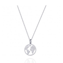 WORLD NECKLACE STERLING SILVER