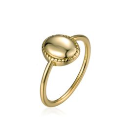 OVAL COIN RING GOLD VERMEIL