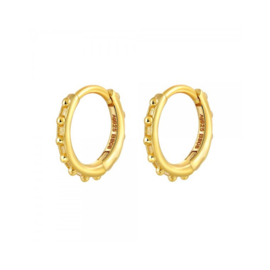 DOTTED HOOPS GOLD VERMEIL OORBELLEN