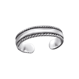 SILVER BAND TEEN RING STERLING ZILVER