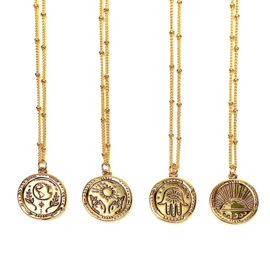 COIN NECKLACE GOLD PLATED
