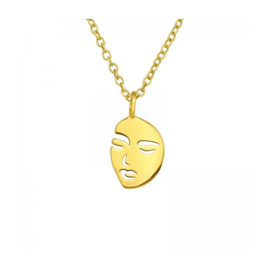 FACE GOLD VERMEIL KETTING