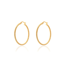 DOTTED HOOPS GOLD VERMEIL 15MM