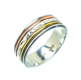 SPINNER RING STERLING ZILVER 16.5