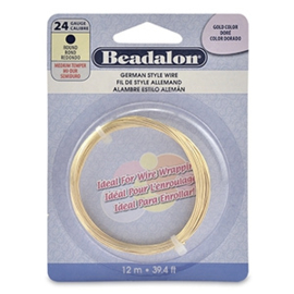 BEADALON BUIGDRAAD 24 GAUGE ROUND GOLD (0.51 MM)