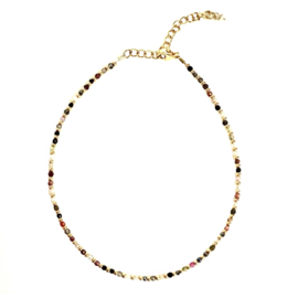 MIXED GEMS ANKLET GOLD