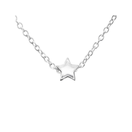 STAR NECKLACE STERLING SILVER