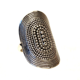 BALI LARGE BOHO RING STERLING ZILVER