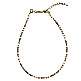 MIXED GEMS ANKLET BRONZE