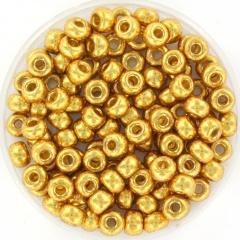 MIYUKI ROCAILLES, 4 MM, DURACOAT GALVANIZED GOLD 4202