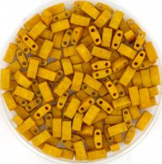 MIYUKI TILA'S, HALF 5 X 2.3  MM KRALEN, OPAQUE MATTE MUSTARD 2312