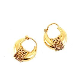 TRIBAL HOOPS GOLD VERMEIL OORBELLEN