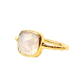 MOONSTONE RING GOLD VERMEIL