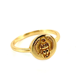 SCARAB RING GOLD VERMEIL / MUJA JUMA