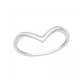V-RING STERLING ZILVER 14.5 (PINK RING)