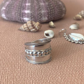 TRIBAL DOTS RING STERLING ZILVER