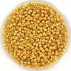 MIYUKI ROCAILLES 2 MM, 24KT GOLD PLATED 11-191