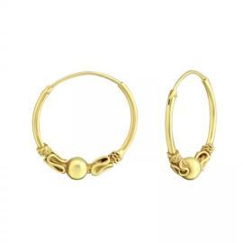BALI HOOPS GOLD VERMEIL EARRINGS