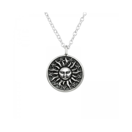 SUN STERLING SILVER NECKLACE