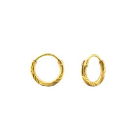 DIAMOND CUT HOOPS GOLD VERMEIL OORBELLEN 8MM