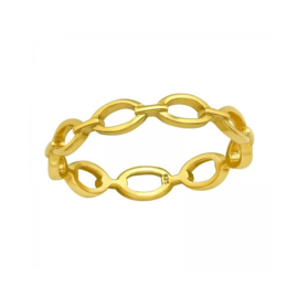 OVAL CHAIN RING GOLD VERMEIL