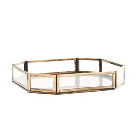 GLASS TRAY W/ CARVED IRON / MADAM STOLTZ