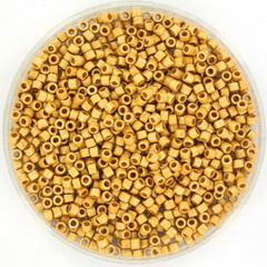 MIYUKI DELICA 2MM DURACOAT GALVANIZED MATTE GOLD 11-1832F
