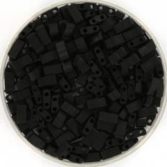 MIYUKI TILA'S, HALF 5 X 2.3  MM KRALEN, OPAQUE MATTE BLACK 401F