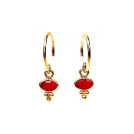 GIPSY RUBY GOLD VERMEIL EARRINGS / MUJA JUMA