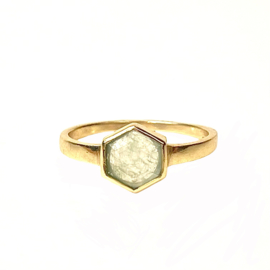 HEXAGON NEFRITE RING GOLD VERMEIL / MUJA JUMA