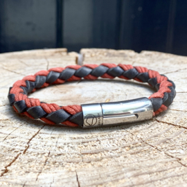 MENS BRACELET PUNTA PALOMA RED/ BLACK